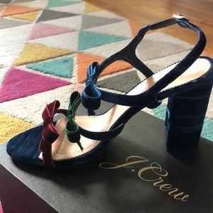 J.Crew heels. Velvet! Never worn